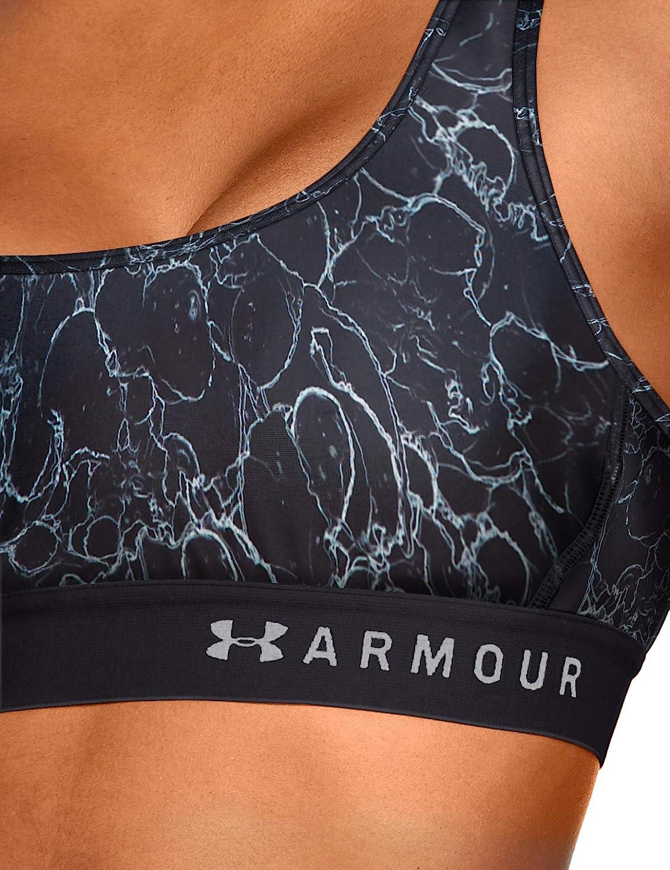 Armour Mid Crossback Printed Bra Reggiseno Sportivo Donna Under Armour