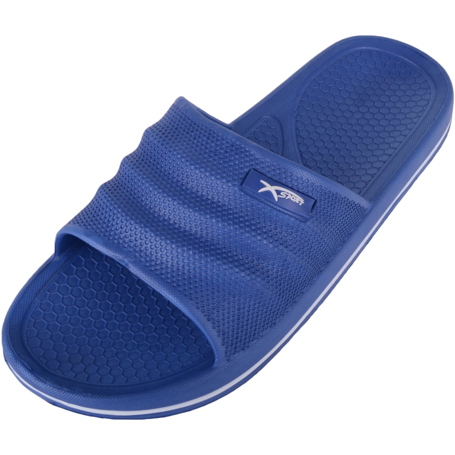 Absolute Footwear Mens Slip On Pool/Beach/Shower/Holiday Sandals/Flip Flops/Shoes