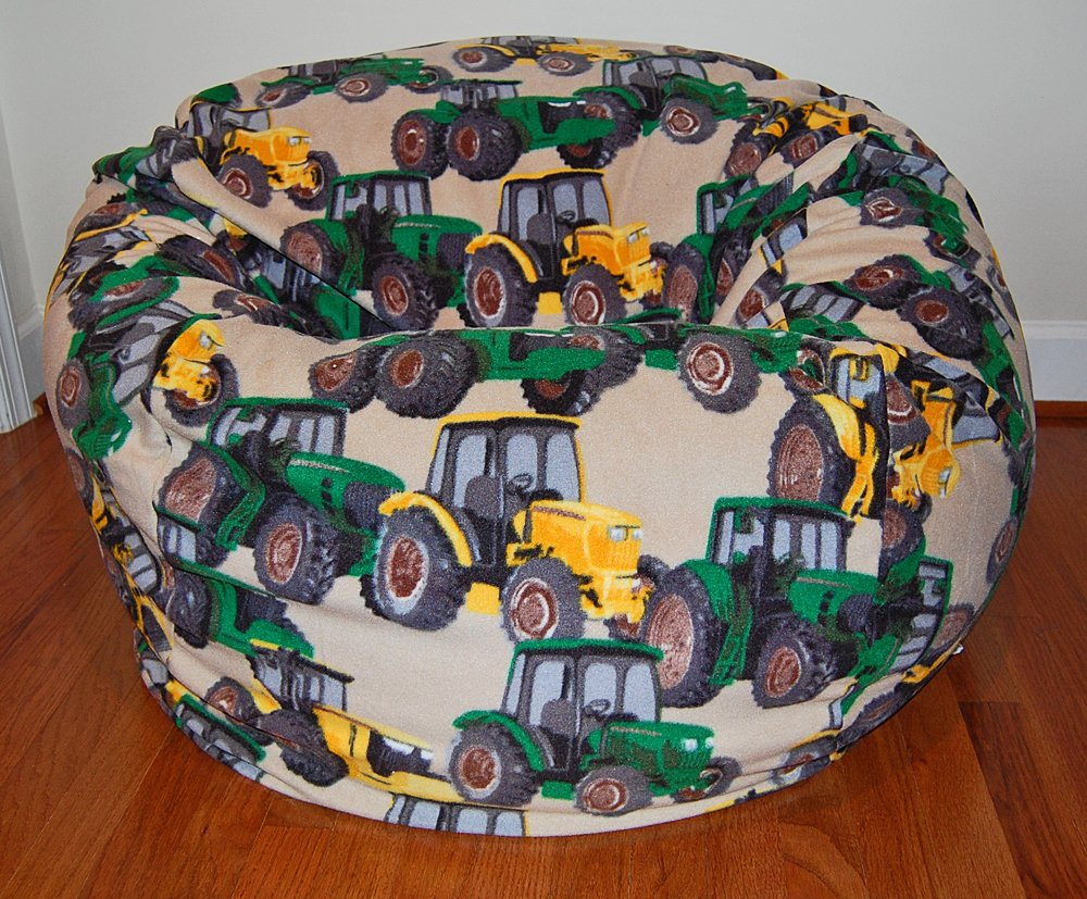 Ahh! Products Tractors Anti-Pill Fleece Washable Large Bean Bag Chair