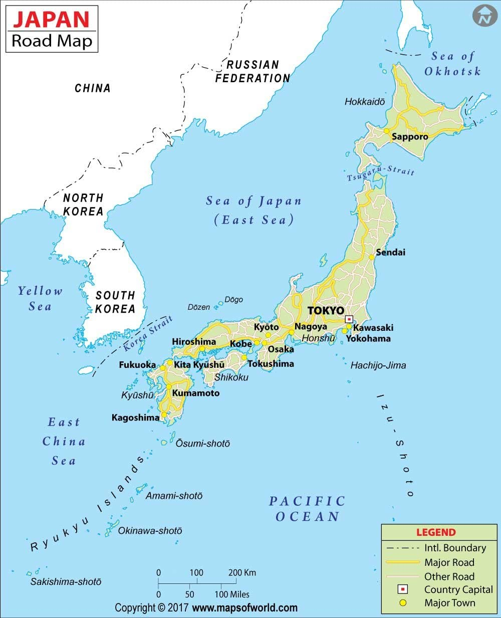Amazon Japan Highway Map 36 W X 44 36 H Fice