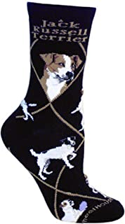 product image for Wheel House Designs Jack Russell Terrier dog socks Large (10-13)