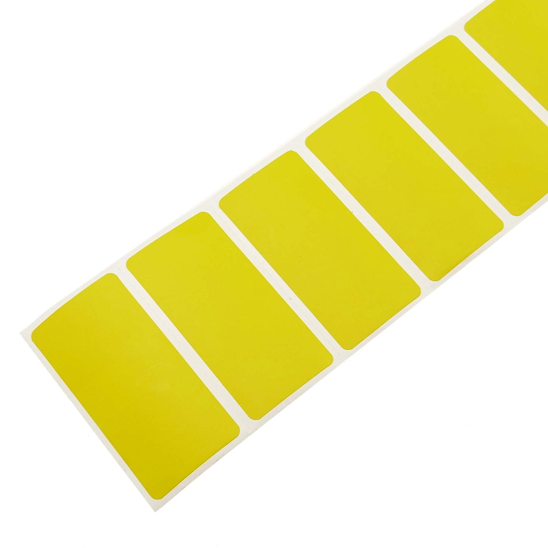 Rotolo di 1100 etichette adesive per stampante termica diretta 50,8 x 25,4 mm giallo BeMatik KU013