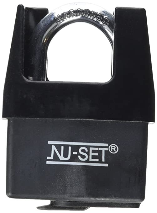 148f49fe88aa NU-Set 5361-3 Steel Padlock with Weather-Proof Cover and Shrouded Shackle,  2-1/2-Inch