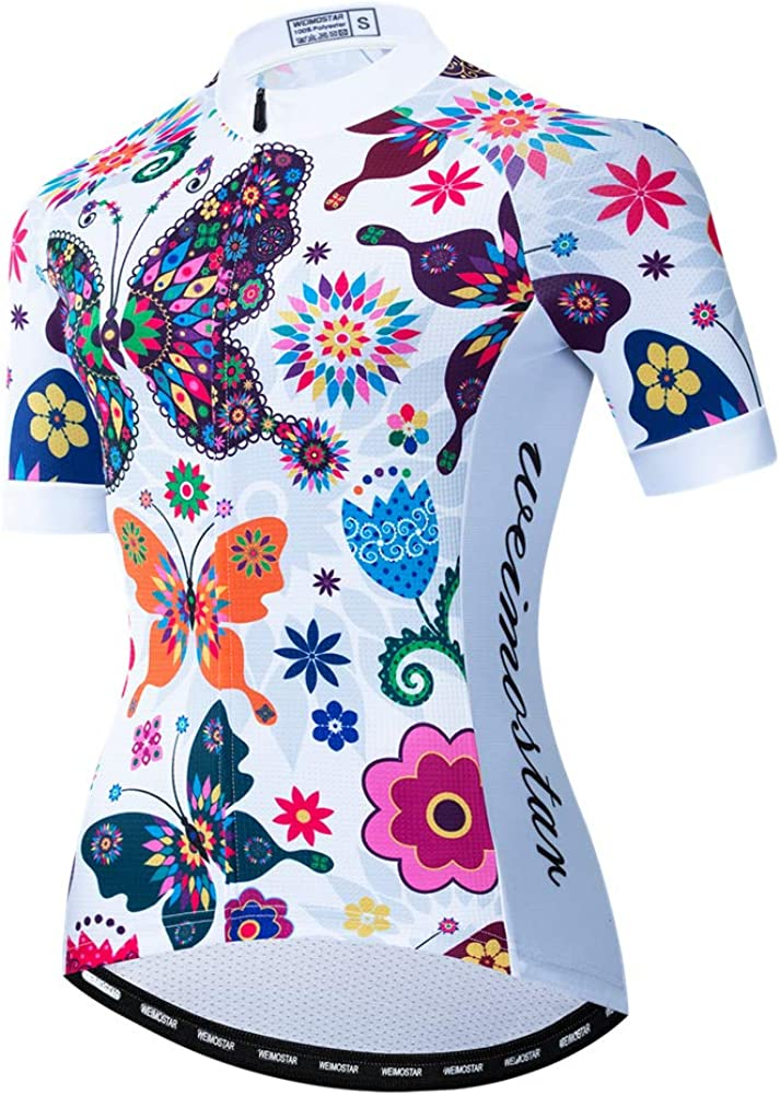 Summer Short Sleeve Cycling Jersey Women Mountain Bicycle Clothing Racing Bike Clothes Quick Dry: Clothing
