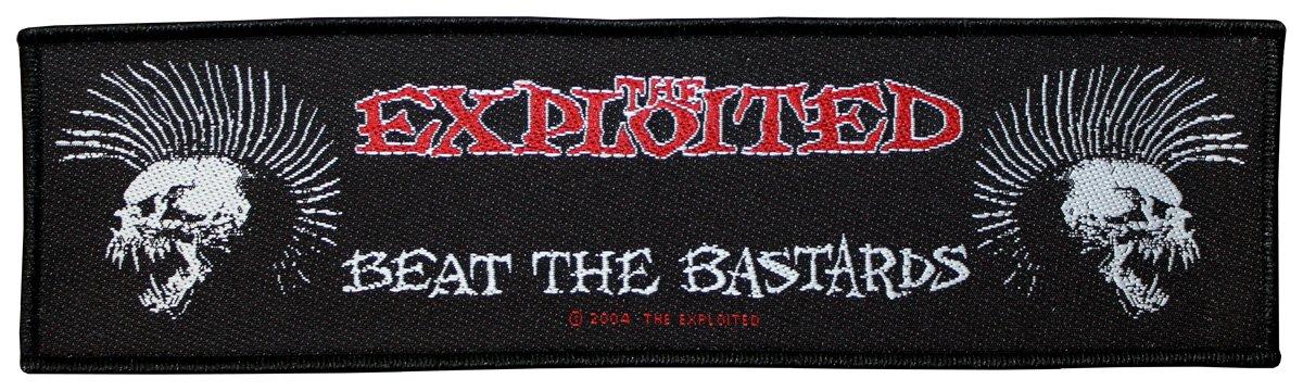 The Exploited Supers Trip Badges Beat the Bastards Patch tissé 20,5x 5,5cm