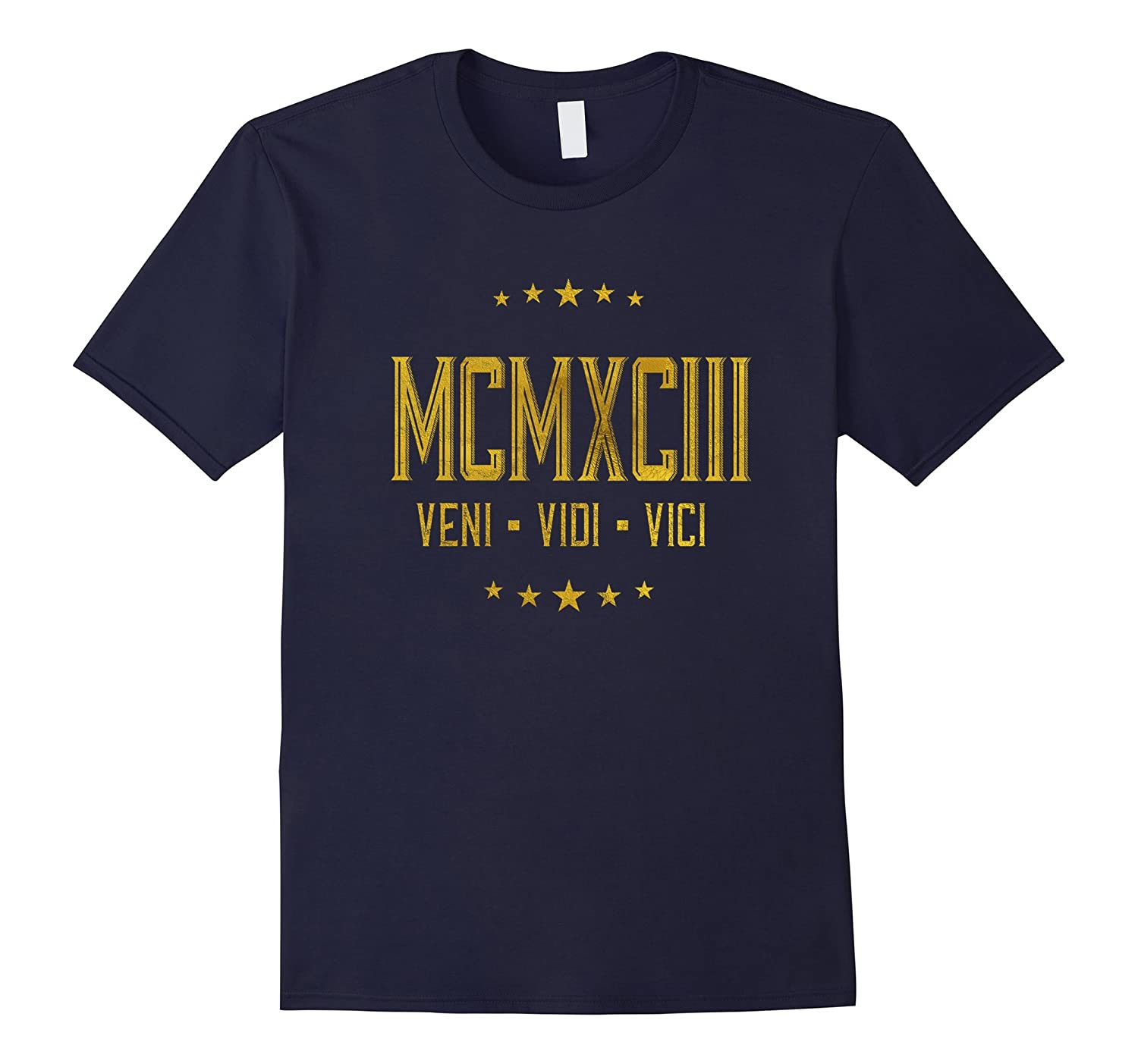 1993 Veni Vidi Vici T-Shirt 24 yrs old Bday 24th Birthday-PL