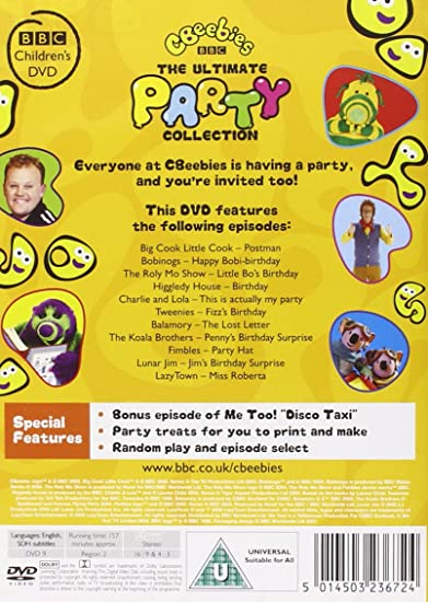 Cbeebies The Ultimate Party Collection Dvd Amazon