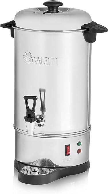 Swan SWU10L 10L 1600W Blanco-Tetera eléctrica (1600 W, 250 mm, 460 mm, 2,42 kg, 267 mm), 10 litros, Acero Inoxidable: Amazon.es: Hogar