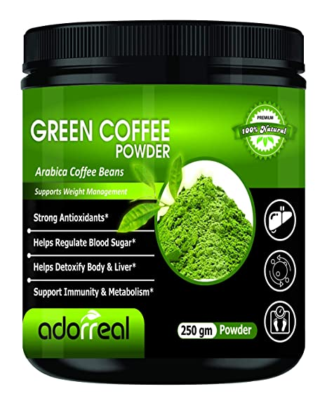 Buy Adorreal 100 Arabica Green Coffee Bean Powder For Weight Loss 250gm Online At Low Prices In India Amazon In