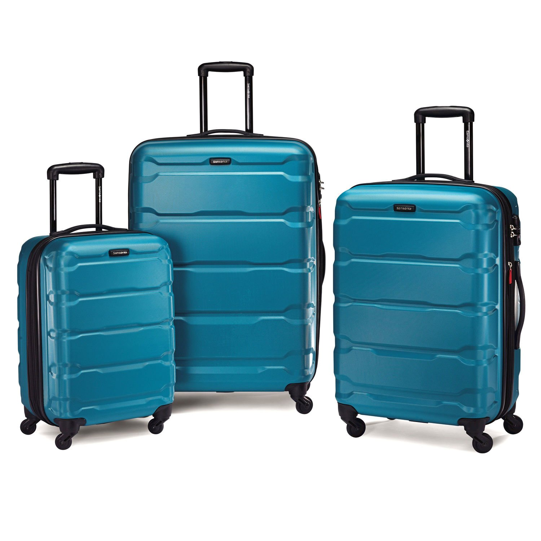 Samsonite Omni PC Hardside Spinner Luggage Set in Caribbean Blue
