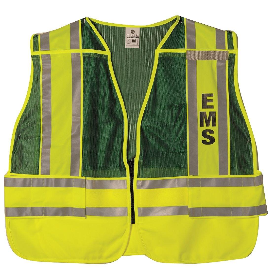 Pro Police Safety Vest Green 2XL//4XL ML KISHIGO 8053FBZ-2X-4X