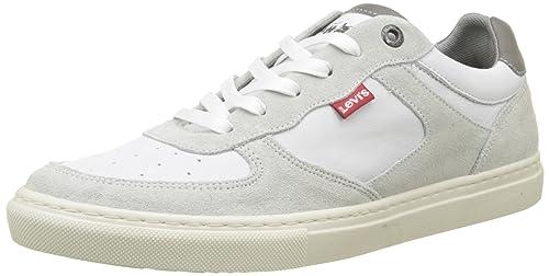 Levi'S Perris Oxford, Zapatillas para Hombre, Blanco (Noir Regular White), 40 EU