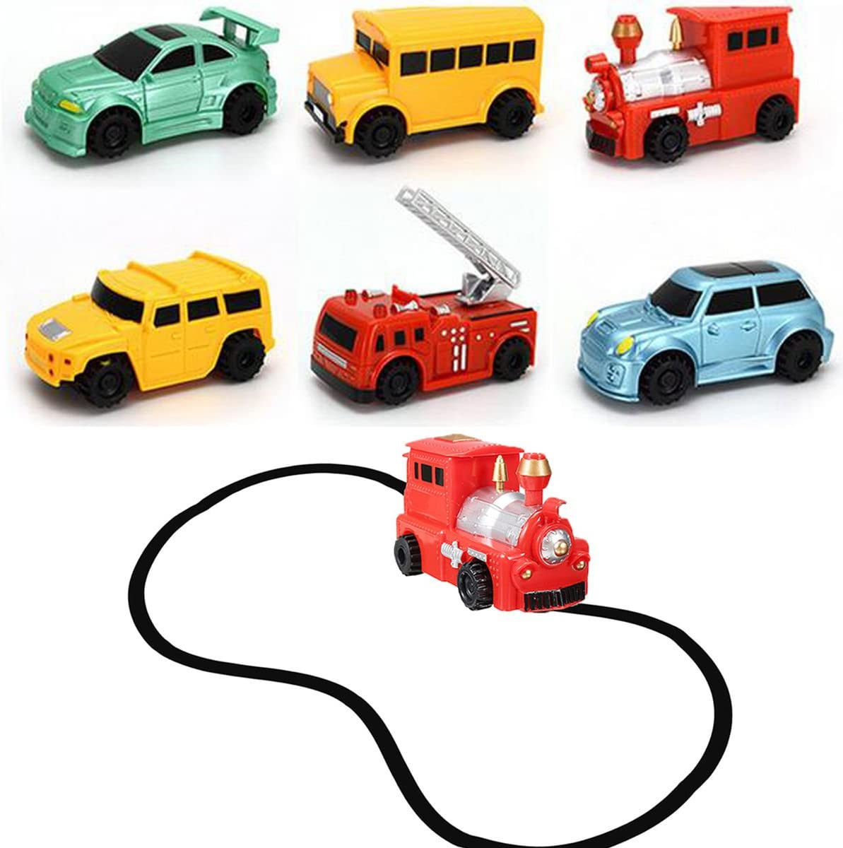 Inductive Car Model Random PUQU 1pc Smart Magic Pen Inductive Toy Car Follow Any Drawn Line Mini Truck Bus Tank Kid Gift