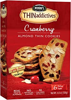 product image for Nonni's THINaddictives, Thin Cookies, Cranberry Almond, 6 Count, 4.4 Ounce