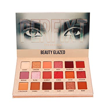 Beauty Essentials Beauty Glazed 2018 New Makeup Eyeshadow Palette Shimmer Matte Pigments 20 Colors Glitter Smokey Eye Shadows Make Up Powder Kit Carefully Selected Materials Eye Shadow