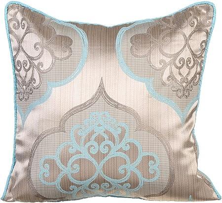 Conjunto de cojines decorativos en terciopelo azul 45x45 cm
