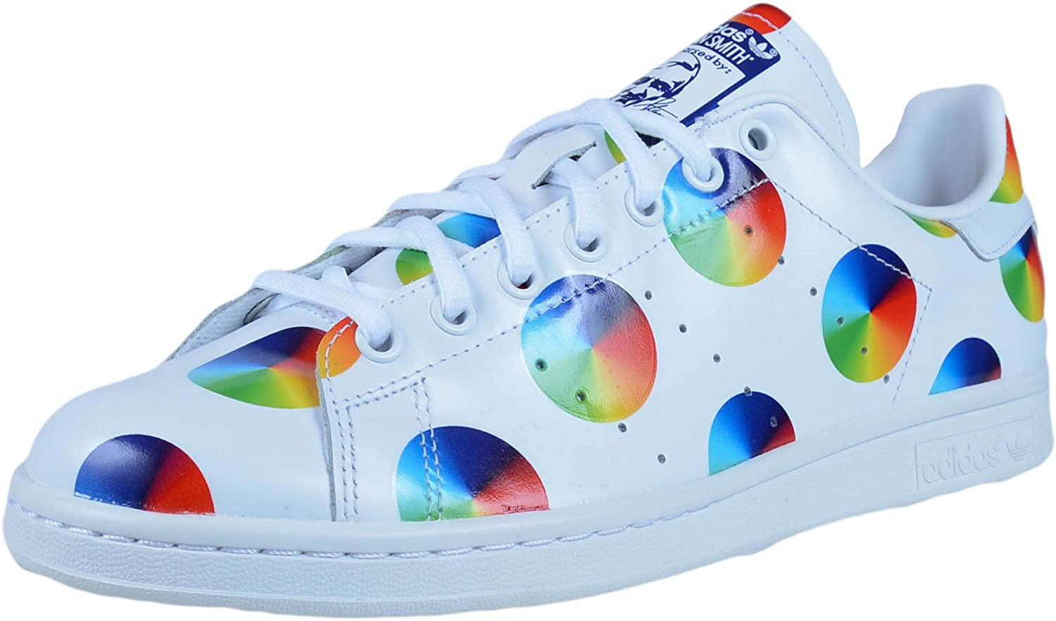 De Verdad Cinco bruja  Amazon.com | adidas Mens Stan Smith Color Wheel FTWWHT, FTWWHT, MIDIND  S77367 | Running
