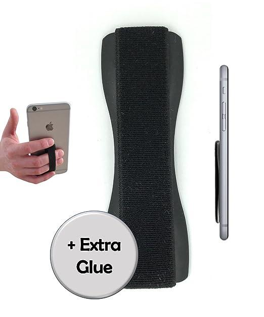 Case-Hero Premium Smartphone Fingerhalterung   inkl. ERSATZKLEBER   EINHAND Modus für Handy, Tablet, eReader   Hülle & Case  
