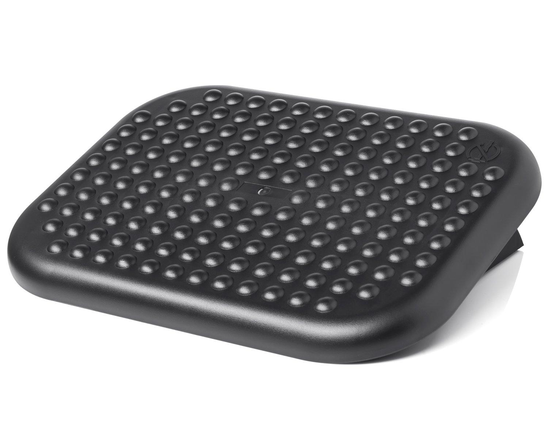 Halter F6018 Premium Ergonomic Adjustable Angle Foot Rest - 17.6'' X 13.1'' - Black