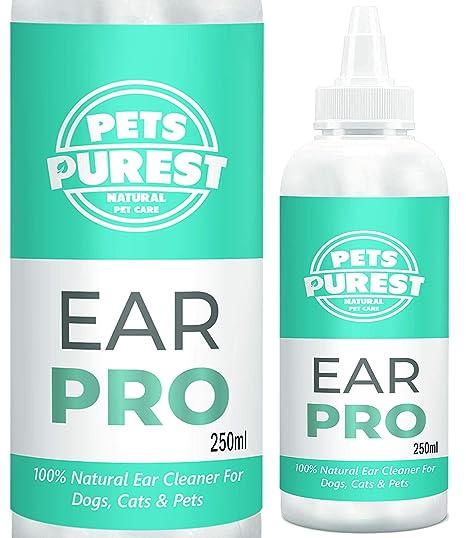 Pets Purest Limpiador de Orejas con fórmula antihongos Repelente de ácaros picazón, Olor a mugre y Oreja desapareció en 2-3 días para Perros, Gatos y ...