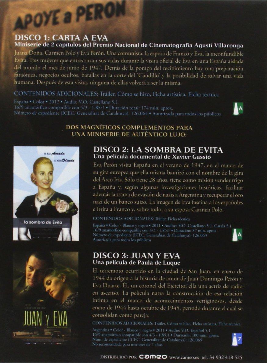Edición Especial Digipack: Carta A Eva + La Sombra De Evita + Juan Y Eva [Dvd