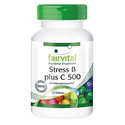 Ester B más C 500 - para 1 mes - VEGANO - Alta dosificación - 30 comprimidos - altas dosis de Vitaminas del complejo B con Vitamina C: Amazon.es: Salud y ...