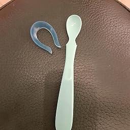 Newin Star Set de Cuchara Beb/é,Cuchara Temperatura Silicona Anti-Caliente,No T/óxico Sin BPA de Colores Vivos para la Salud de la Boca Cubiertos para Ni/ño y Beb/é 2PCS Azul//Amarillo
