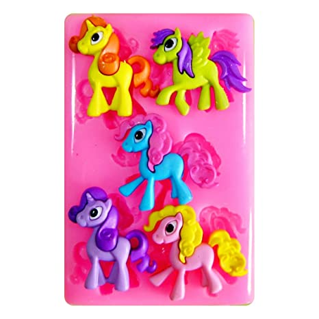 Pony lindo, Pegasus y unicornio Molde de silicona para la torta de Decoración Pastel de