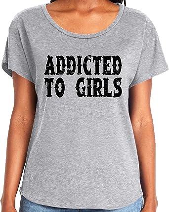 e29d50ae3 Amazon.com: Amdesco Ladies Addicted to Girls Dolman T-Shirt: Clothing