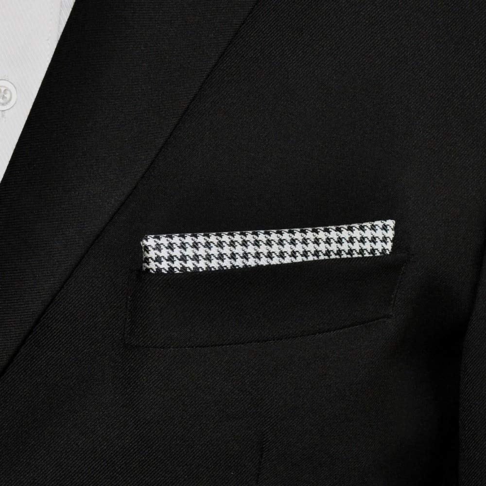 Shlax/&Wing Checked Black White Handkerchieves Mens Neckties Hanky Pocket Square
