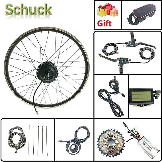 Schuck Kit de conversión de Bicicleta eléctrica Rueda del Motor del Cubo Trasero Pantalla LCD3 26 36V500W Kit de conversión de Bicicleta eléctrica Accesorios de Bicicleta: Amazon.es: Deportes y aire libre