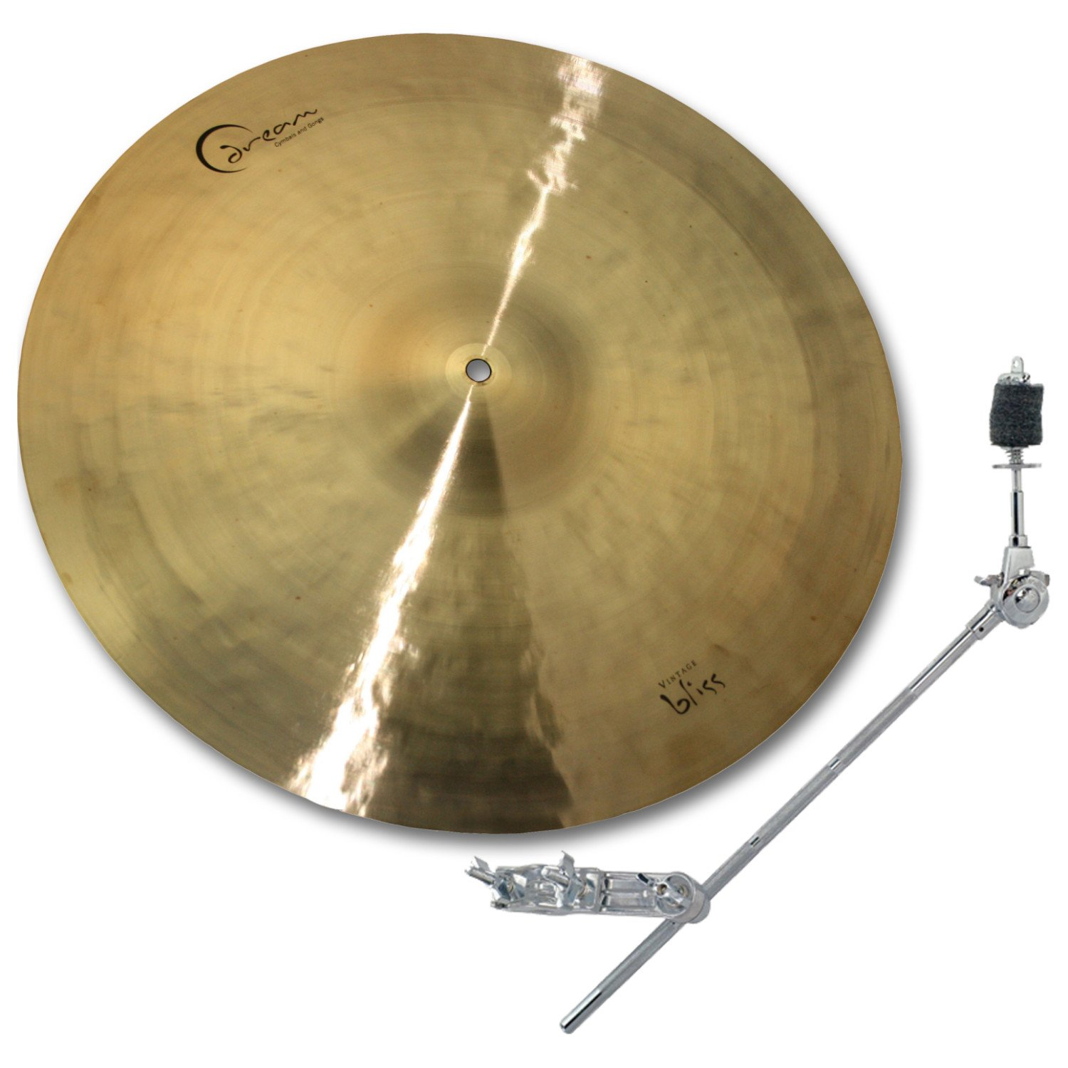 Dream Cymbals VBCRRI18 18'' Vintage Bliss Series Crash/Ride Cymbal with Free Boom Arm and Clamp by Dream Cymbals and Gongs