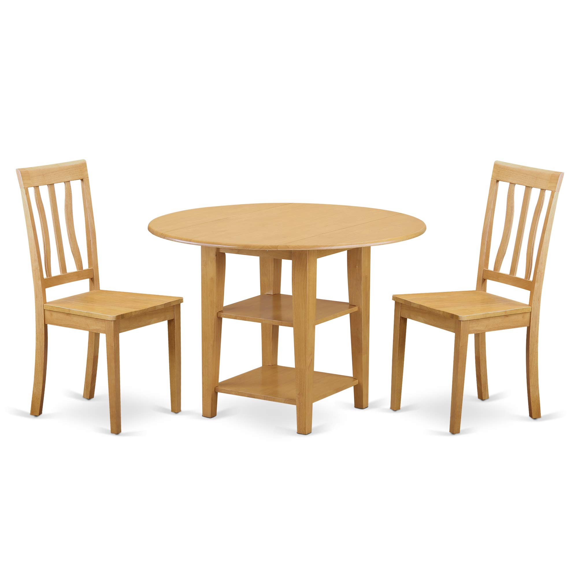East West Furniture SUAN3-OAK-W Sudbury Set, Oak