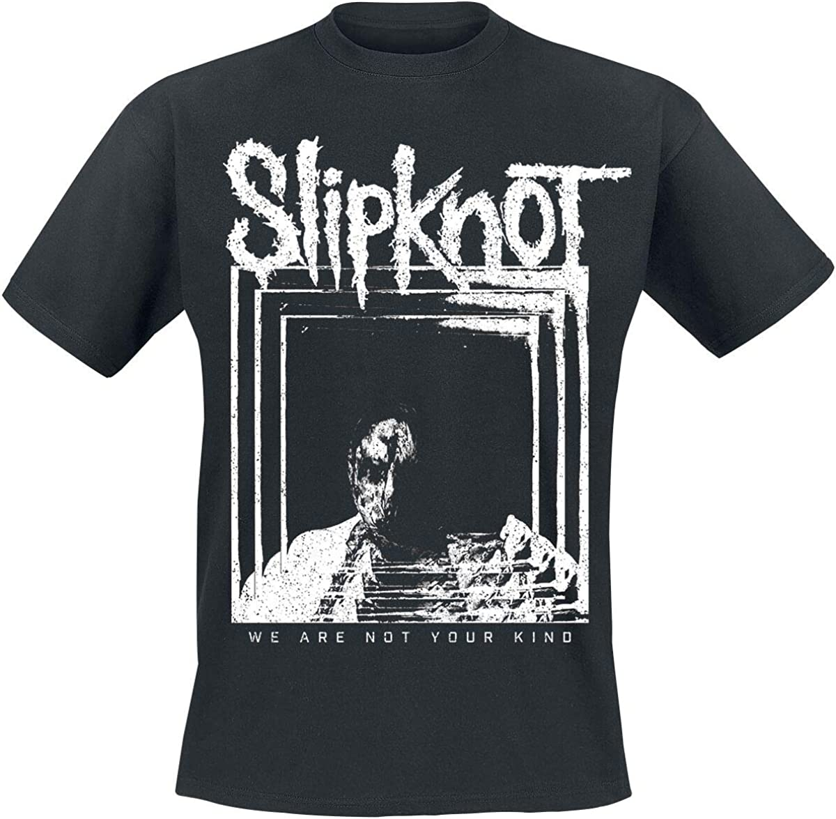 Bands Multi Frame M/änner T-Shirt schwarz Slipknot We Are Not Your Kind Band-Merch