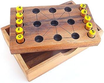 LOGICA GIOCHI Art. Magia de los Numeros - Reto con Números – Rompecabezas de Madera – Nivel de dificultad Media 2/6: Amazon.es: Juguetes y juegos
