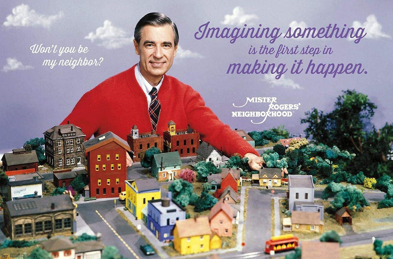 "Trends International Mister Rogers-Neighborhood Wall Poster, 22.375"" x 34"", Multi"