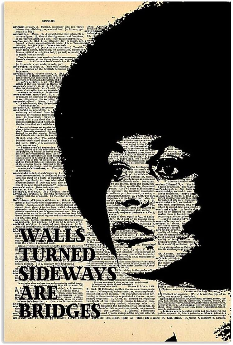 iWow Customized Angela Davis Walls Turned Sideways are Bridges Pos Vertical Poster Posters Print Gifts, On Christmas, Birthday, Home Decor33.