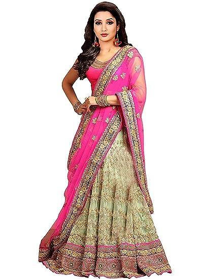 7e682f2d83 Drashti villa Women's Embroidered Semi Stitched lehenga choli With Blouse  Piece (Free Size) (Pink): Amazon.in: Clothing & Accessories