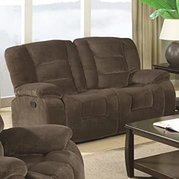 Coaster Home Furnishings Casual Motion Loveseat, Brown Siege