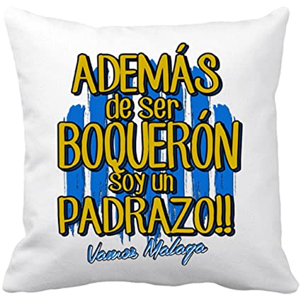Cojín con relleno Málaga fútbol además de ser Boquerón soy ...
