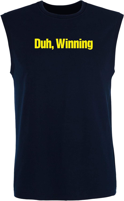 T-Shirtshock_ Singlete para los Hombre Azul Navy FUN0978 Charlie Sheen DUH Winning T Shirt: Amazon.es: Ropa y accesorios