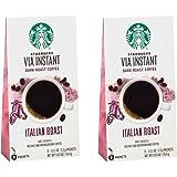 (2 Pack) Starbucks Via Ready Brew, Italian Dark Roast Instant Coffee, 8-Count each