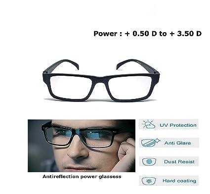487ef69b6687 Aramoda Antiglare Power Reading Anitreflection Black Wayfarer Men s and Women s  Glasses
