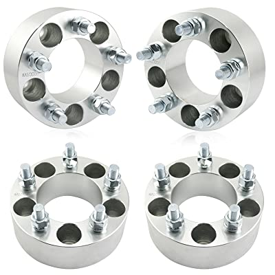 "Orion Motor Tech 4pc Wheel Spacers/Adapters | 5 Lug 5x4.5 / 5x114.3-2"" Thickness - 1/2"" x20 Studs for Dodge Nitro Ford Mustang Jeep Wrangler Lincoln Mazda Mercury: Automotive"