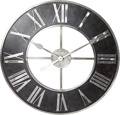Howard Miller Dearborn Wall Clock 625-573 Oversized Steel Frame with Quartz Movement