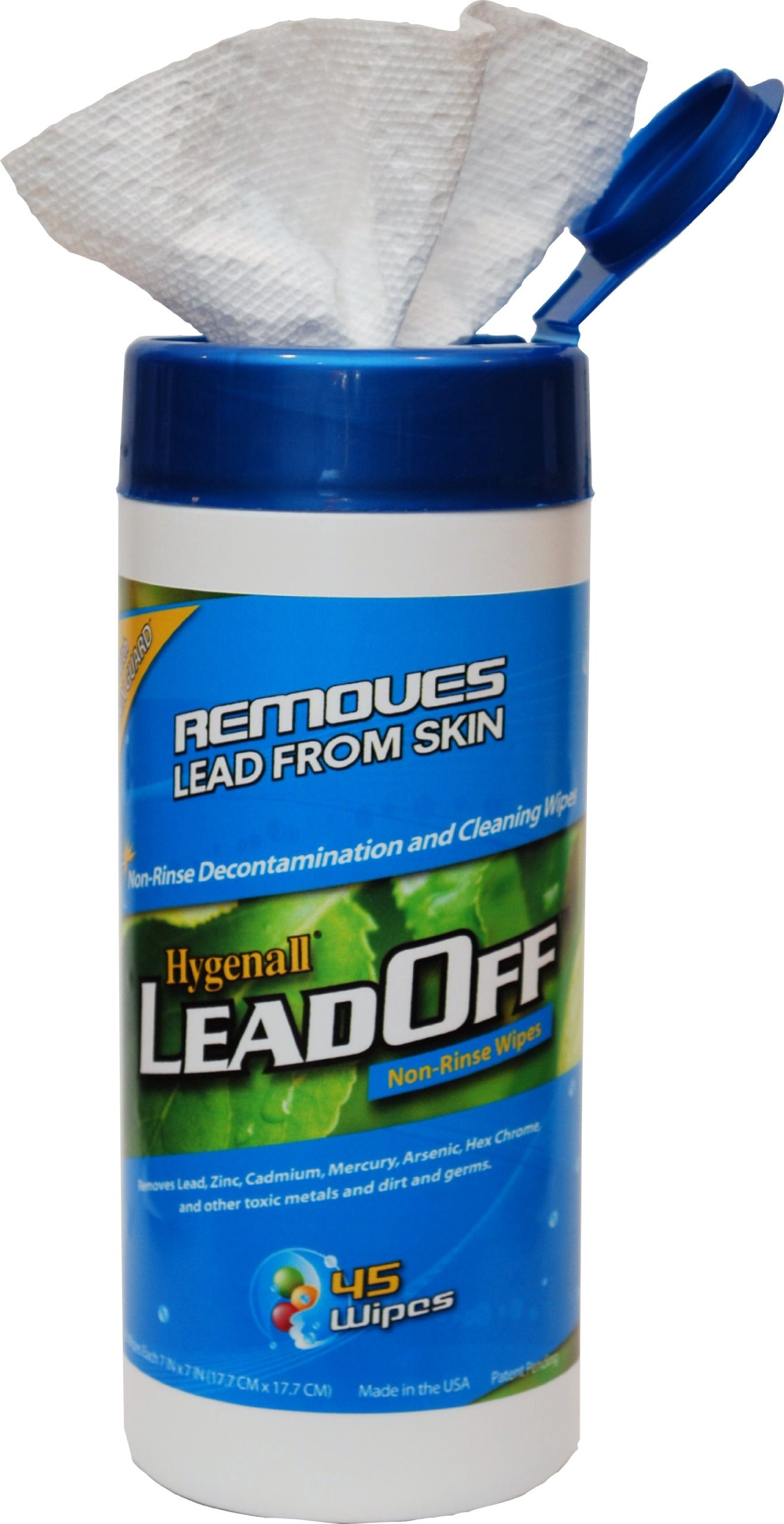 Hygenall LeadOff Disposable Cleaning and Decon Wipes - 45 Wipe Canister 45NRCN by Hygenall