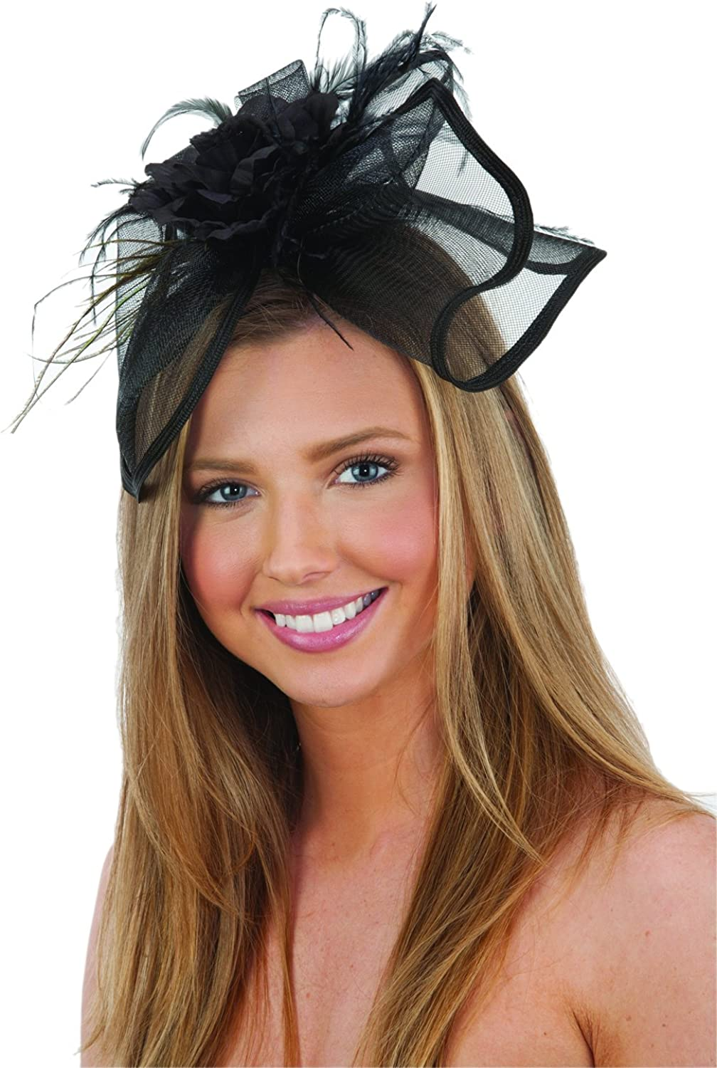 Jacobson Hat Company Women's Mini Hat Headband with Feathers