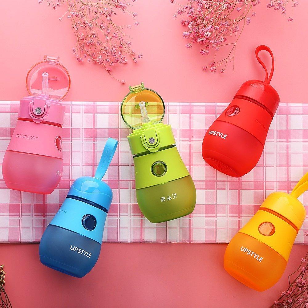 Avec paille antifuite Capacit/é de 280/ml Pour sport Petite gourde deau ou de jus Upstyle pour enfant En plastique voyage