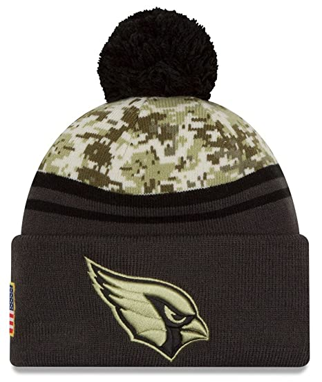 ee6a6c60 New Era 2016 Men's Salute to Service Knit Hat (One Size, Arizona Cardinals)