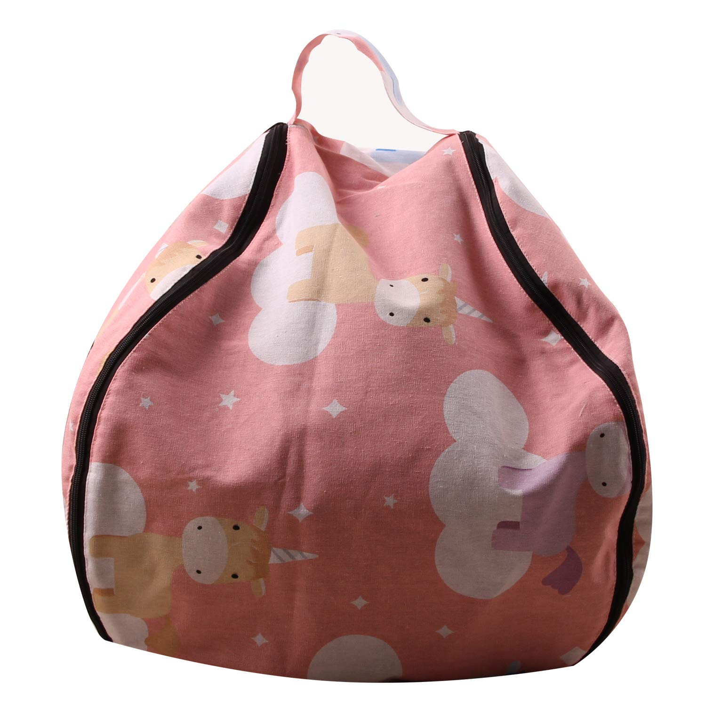 MeMoreCool Canvas Plush Toy Storage Bag | Cartoon Storage Bag | Clothes and Debris Storage Bag | Multi-Function Travel Storage | Canvas Bag | Baby Toy Quick Storage Bag | Cotton Canvas Bag